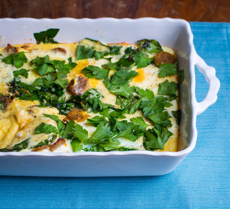 Polenta and Egg Breakfast Casserole