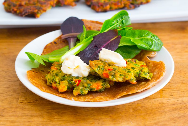 Chick Pea Fritters (Vegan; Gluten-free)