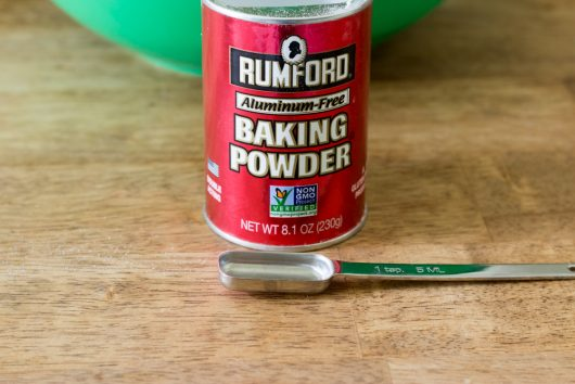 add 5 teaspoons of (fresh) baking powder