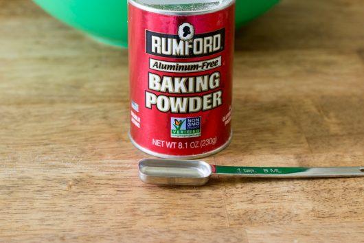 add 5 teaspoons of (fresh) baking powder
