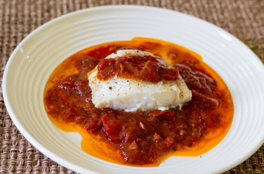 marinara on top of fish