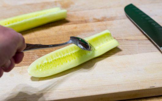 seeding the cucumber