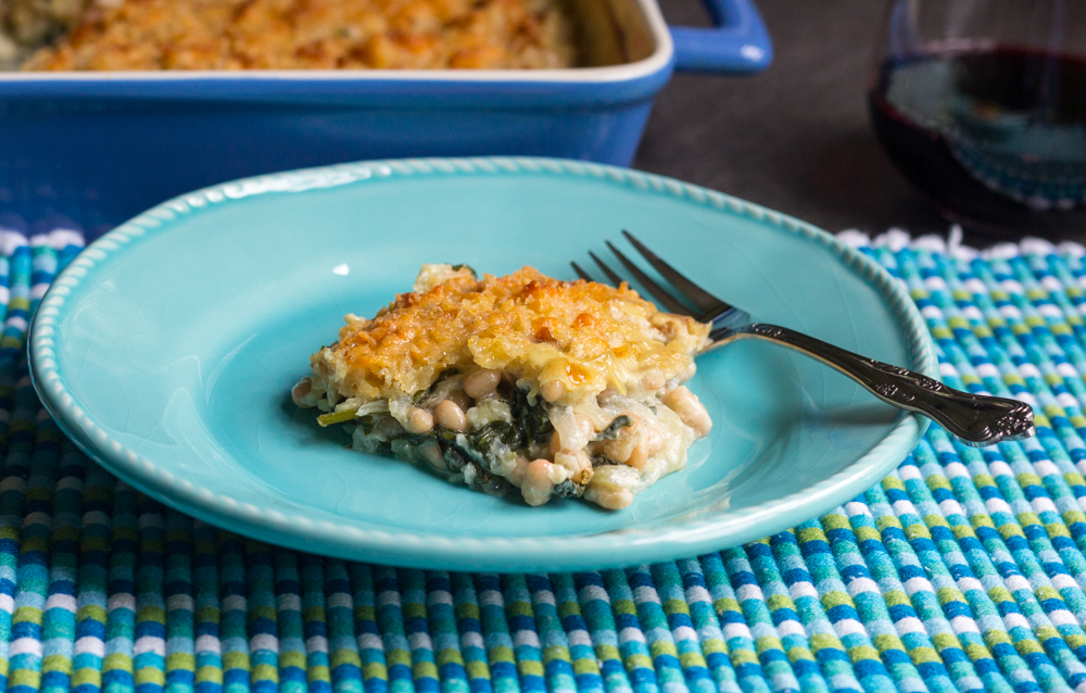 A Spinach, Fennel and White Bean Gratin