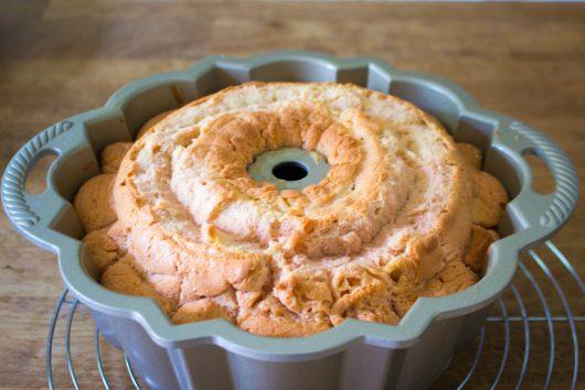 Pink Champagne Bundt Cake, baked