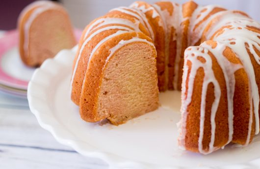 interior view of Pink Champagne Bundt Cake