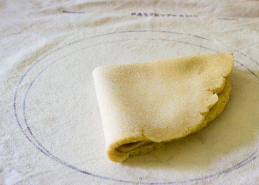 fold the dough into quarters
