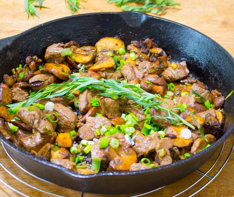 Skillet Steak Dinner Recipe