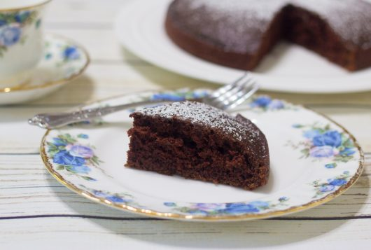 Helene's Crazy Chocolate Cake -- serve