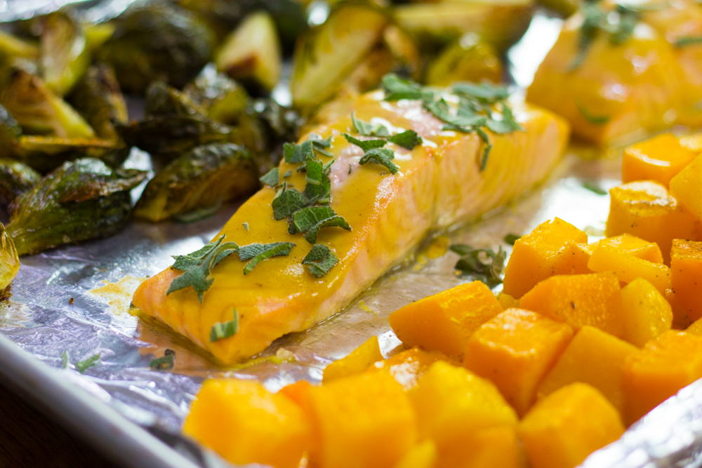 Maple Salmon Sheet Pan Dinner