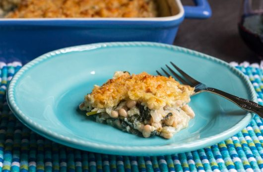 Spinach, Fennel and White Bean Gratin
