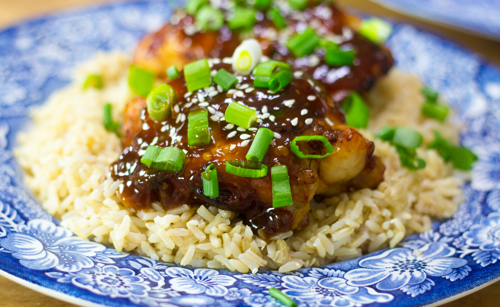 Air Fryer Asian-Glazed Chicken Thighs