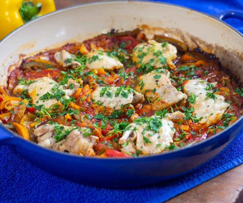 Chicken Piperade