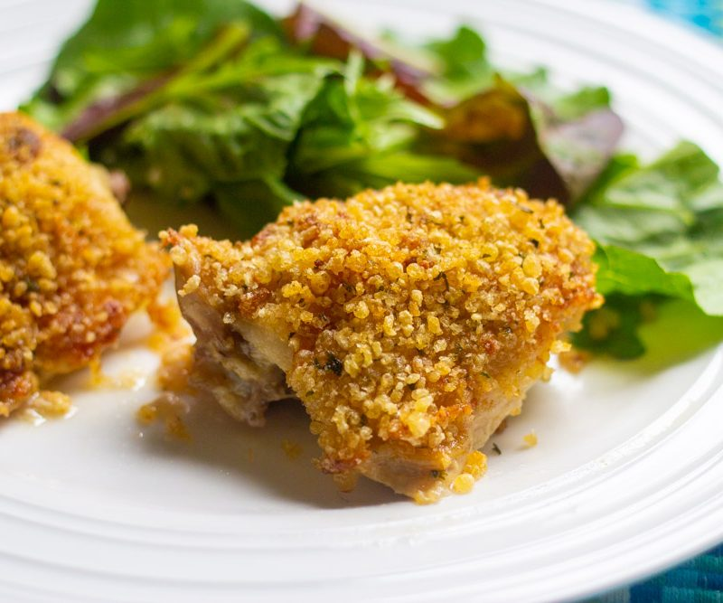 Crispy Mayonnaise Chicken Thighs