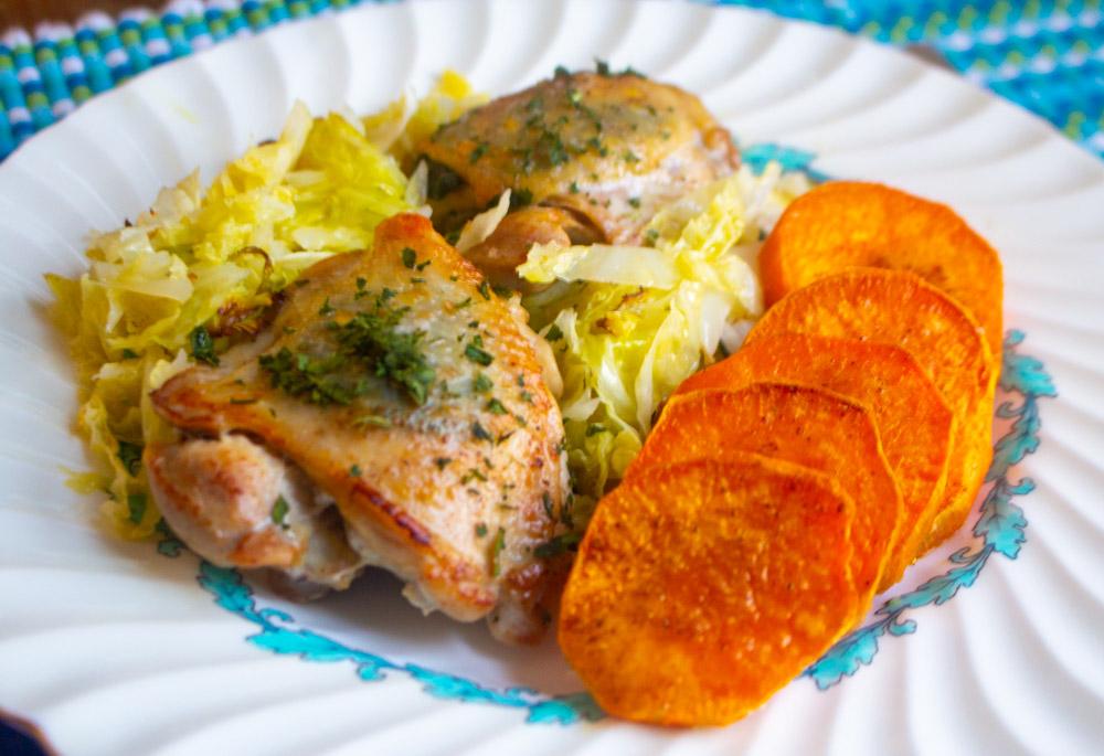 Sage Chicken Thighs (Full Dinner)