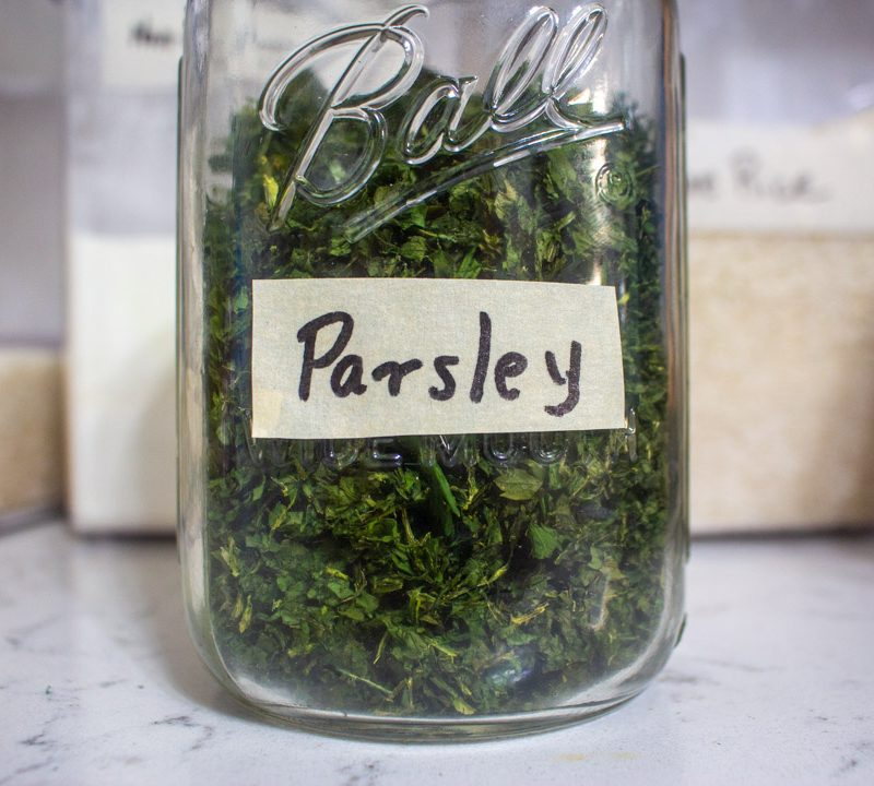 How to Dry Parsley in the Oven